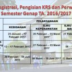 Herregistrasi, Pengisian KRS Online Dan Perwalian Semester Genap TA. 2016/2017